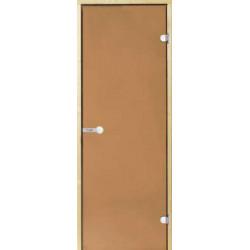 Dvere Harvia celosklenené osika bronzovej do sauny