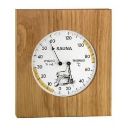Teplomer vlhkomer do sauny masívny dub