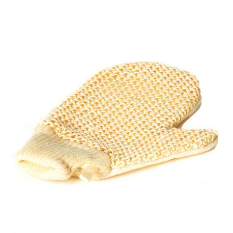 Umývacie masážna rukavica sisal s úpletom