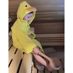 Set s detským županom do sauny
