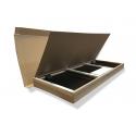 Dveře do sauny andres bronz celoskleněné rám osika