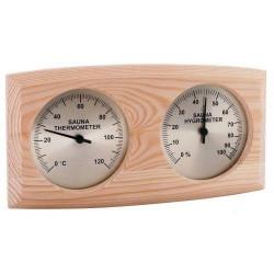 Teploměr vlhkoměr combi  do sauny borovice
