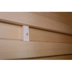 Dřevěná opěrka zad do sauny