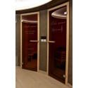 Dveře do sauny luxusní celoskleněné čiré