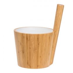 Rento vědro do sauny bambus s bílou vložkou