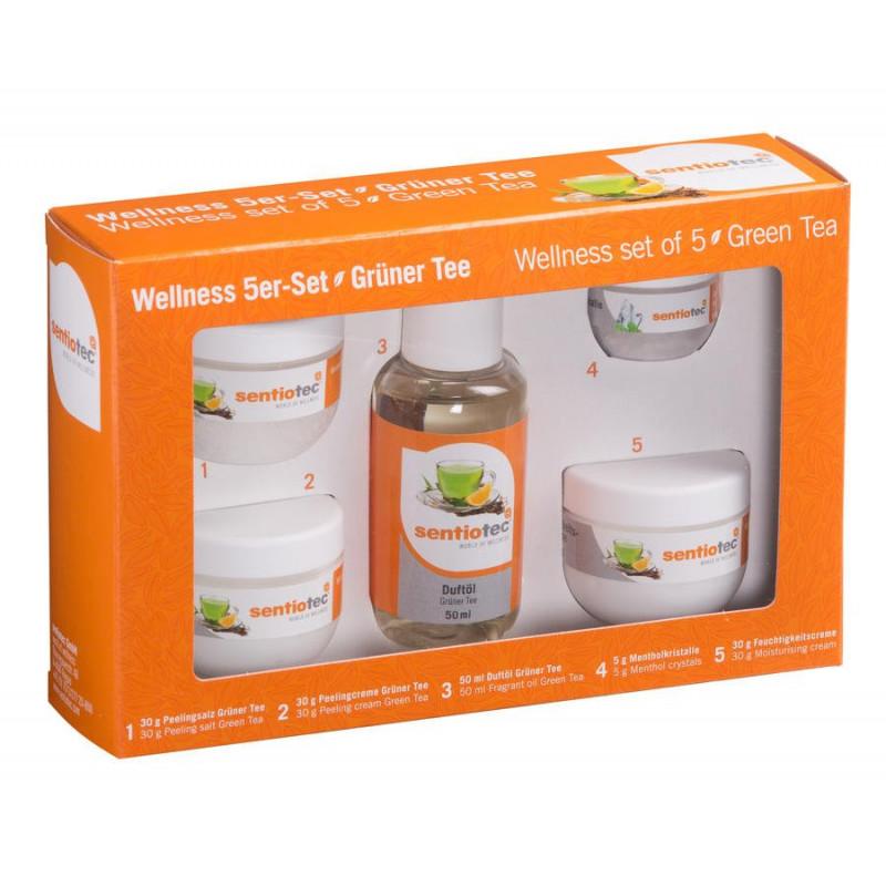 Wellness set zelený čaj