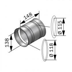 Zděný konektor, připojení do zdi