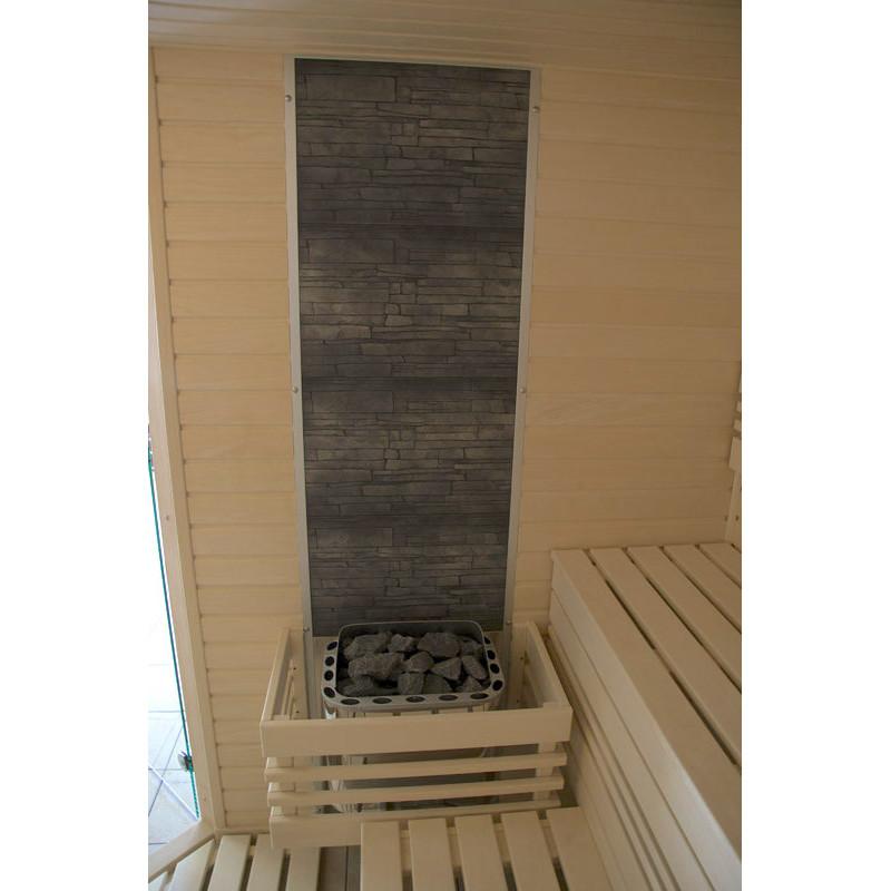 Dekorativní kamenná stěna do sauny