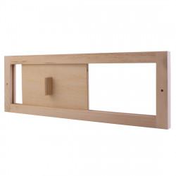 Posuvné odvetranie do sauny šupátko drevené