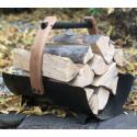 Kovový kôš na drevo legiend
