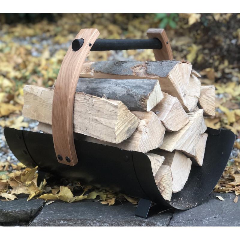 Ocelový koš na dřevo Harvia legend