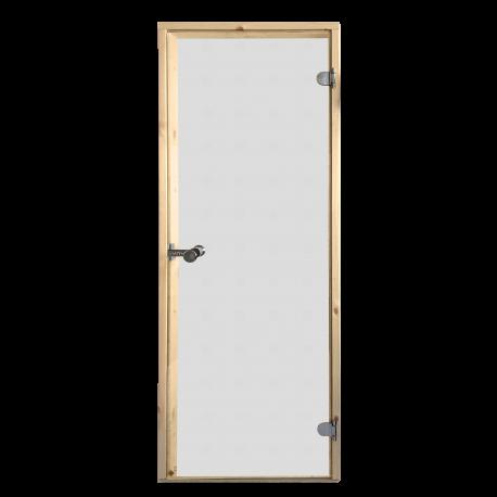 Saunové dveře Harvia 7x19 čiré celoskleněné