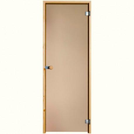 Dveře do sauny Limited celoskleněné bronz