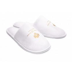 Pánské pantofle do sauny Velur bílé