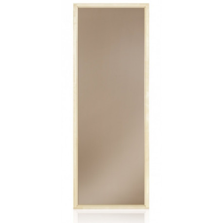Okno do sauny 480x890mm bronz borovice