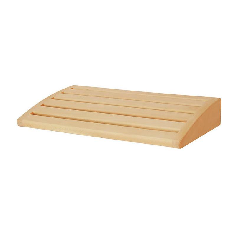 Dřevěný podhlavník do sauny