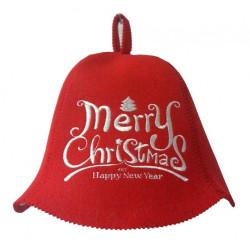 Saunovací čepice vánoční
