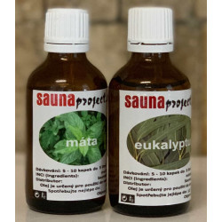 Set esencí do sauna máta + eukalypt 50ml