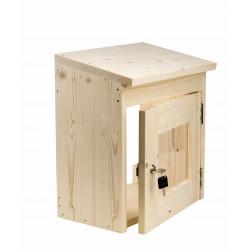 Kryt na saunový regulátor drevený