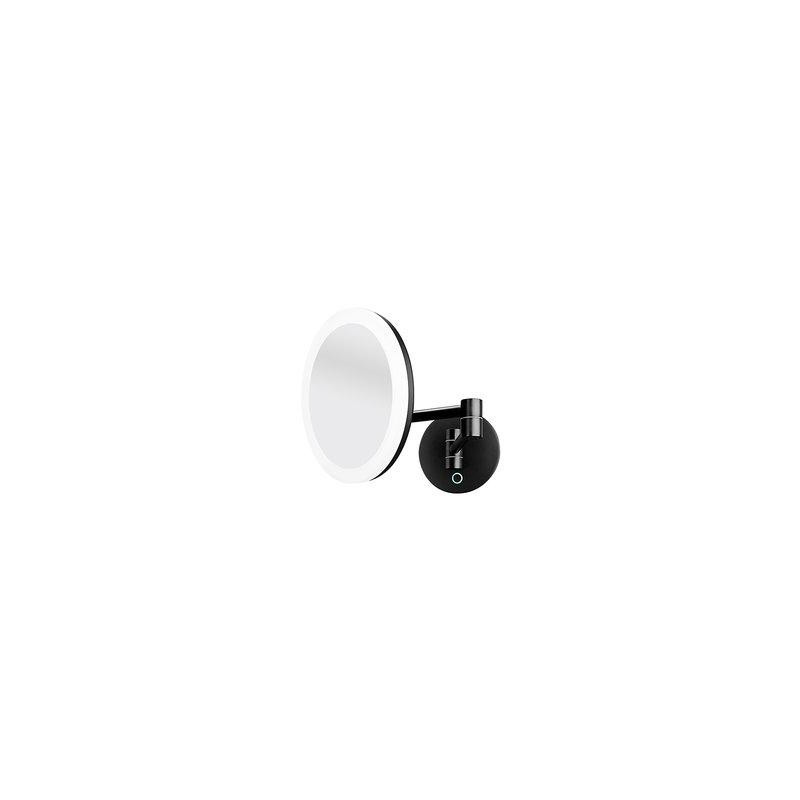 Kosmetické podsvícené LED zrcátko-černé ZK 20265-90