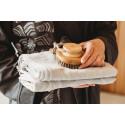 Přírodní kulatý kartáč na tělo do sauny
