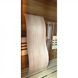 Opěrka zad do sauny Wave cedr