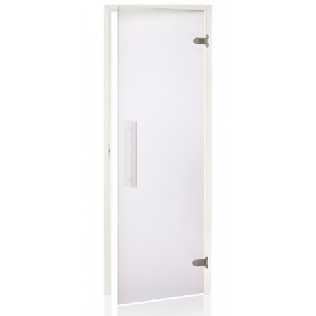 Dveře do sauny Andres SCAN 7x19 white čiré osika