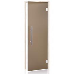 Dvere do sauny LUX 7x19 bronz matný osika