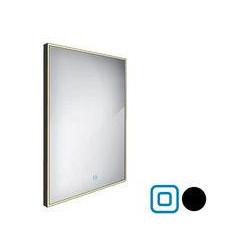 černé LED zrcadlo 600x800 s dotykovým senzorem ZPC 13002V-90