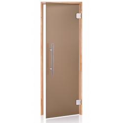 Dvere do sauny 7x20 jelša scan premium bronz matted