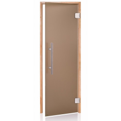 Dveře do sauny 7x20 olše scan premium bronz matted