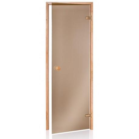 Dveře  do sauny bronz 6x19 osika