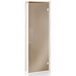 Dvere do sauny BENELUX bronz 7x19 jelša
