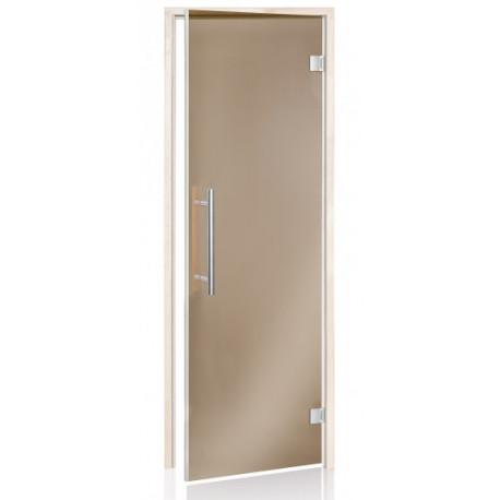 Dveře do sauny BENELUX bronz 7x20 olše