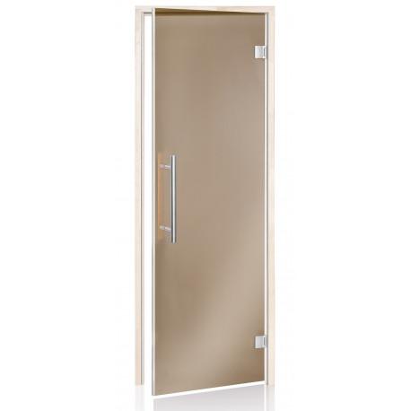 Dvere do sauny Andres Benelux bronz 7x19 osika