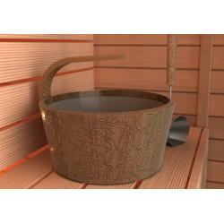 Vědro do sauny dřevěné se zahnutou rukojetí 4L -CEDR