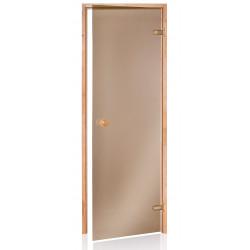 Dvere do sauny SCAN 7X19 bronz JELŠA