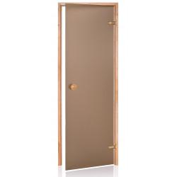 Dvere do sauny SCAN 7x20 bronz JELŠA