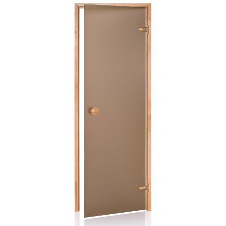 Dveře do sauny SCAN 7x20 bronz OLŠE
