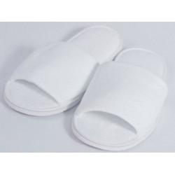 Dámské pantofle do sauny bílé