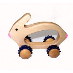 Masážní zajíc do sauny dřevěný