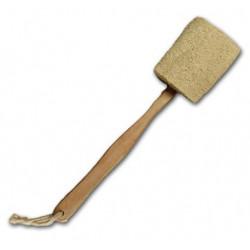 Lufa s dřevěnou rukojetí